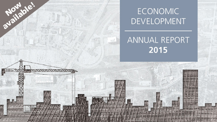 Image of cover of Economic Development Annual Report.