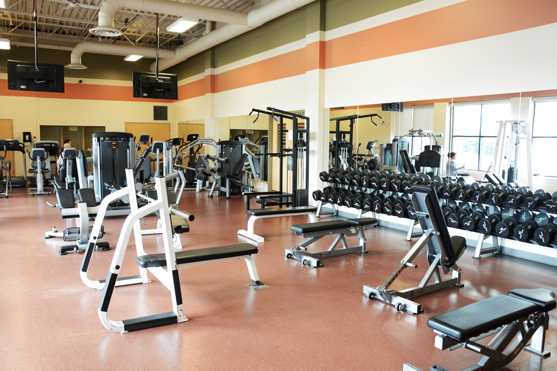 Fitness centre at Iroquois Ridge Community Centre.