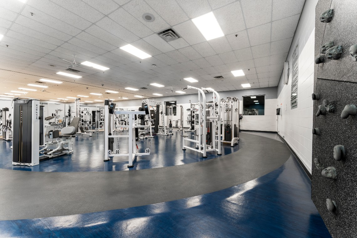 Fitness centre at River Oaks Community Centre.