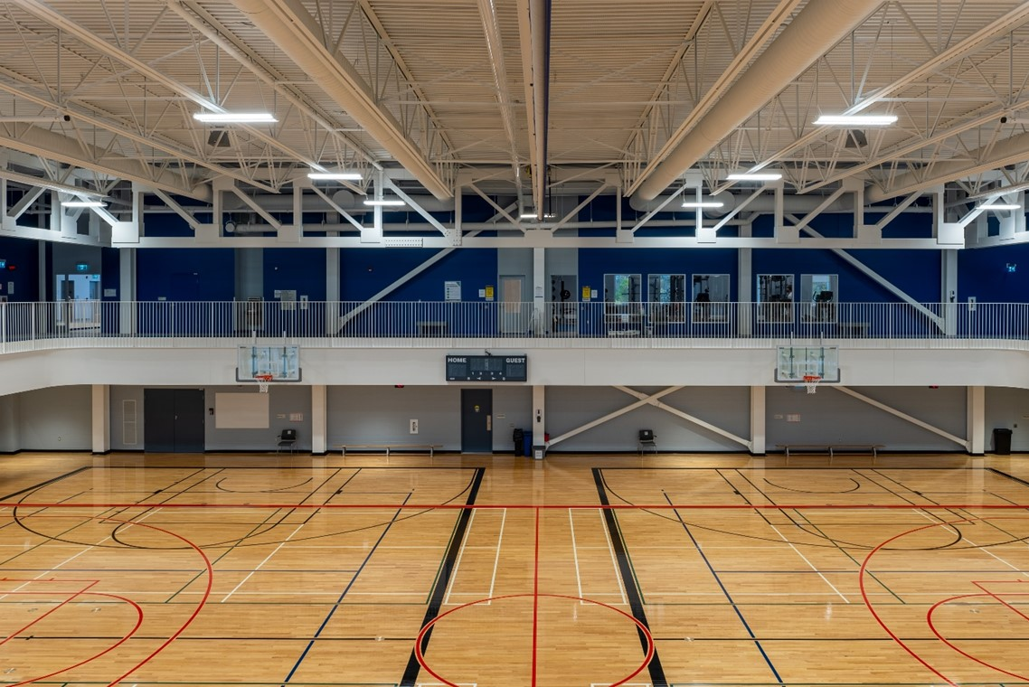 Image of the gym at the Oakville Trafalgar Community Centre.