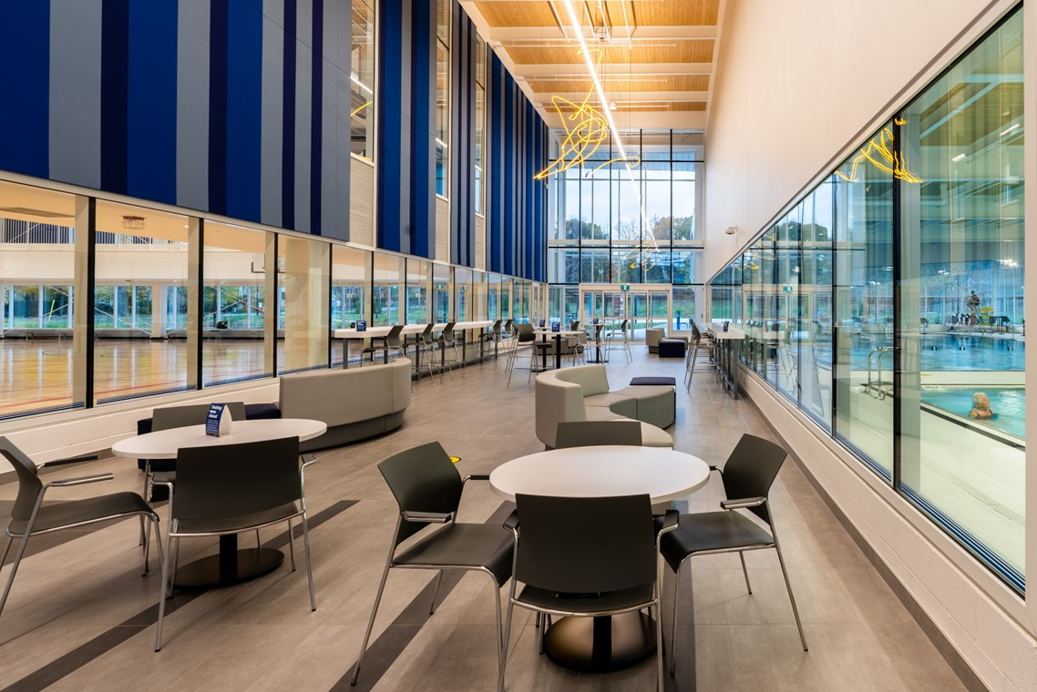 Image of one of the seating areas at Oakville Trafalgar Community Centre.