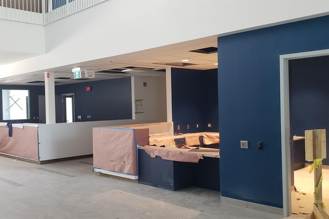 Image of the reception area at the new Southeast Community Centre.