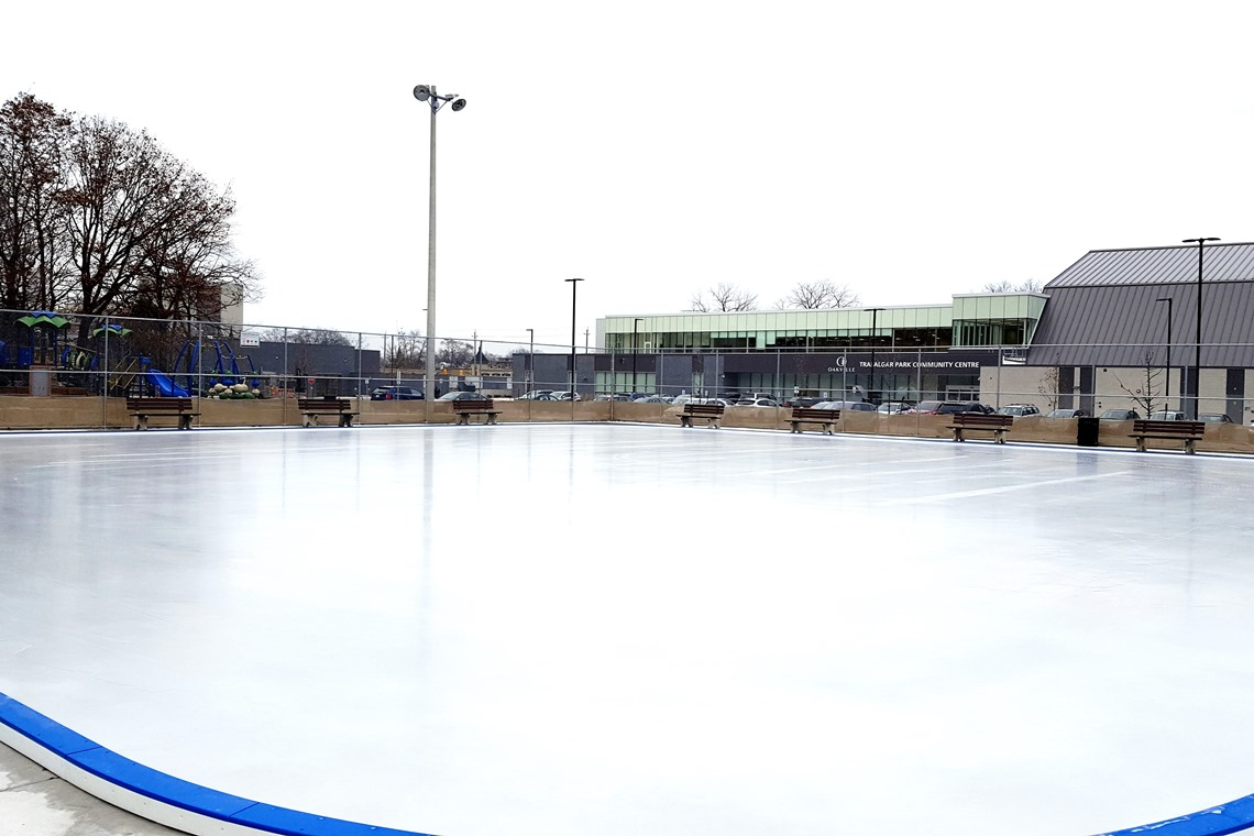 Trafalgar Park now has an outdoor skating rink.