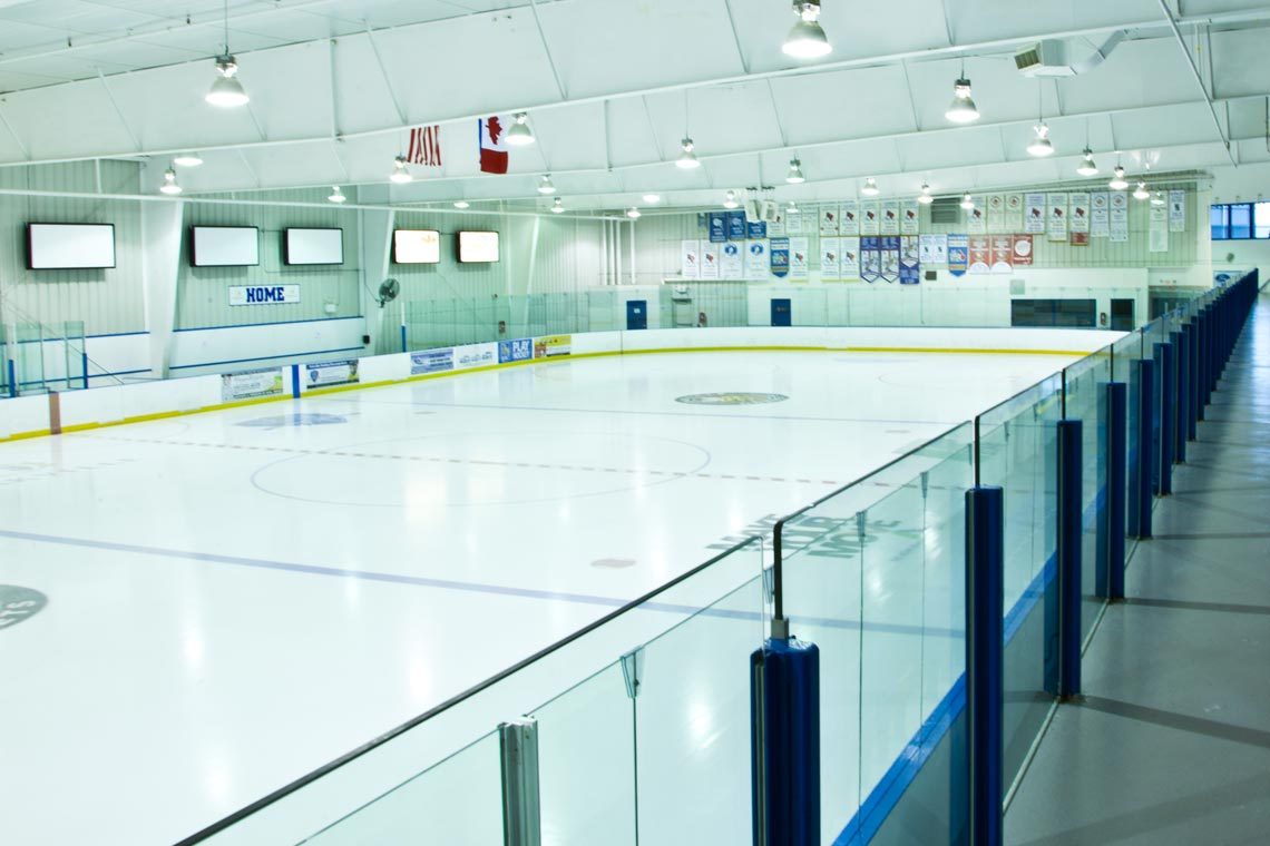 Ice pad at Joshua's Creek Arenas.