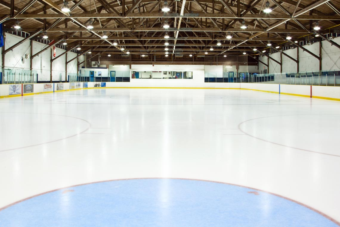 Ice pad at Kinoak Arena.