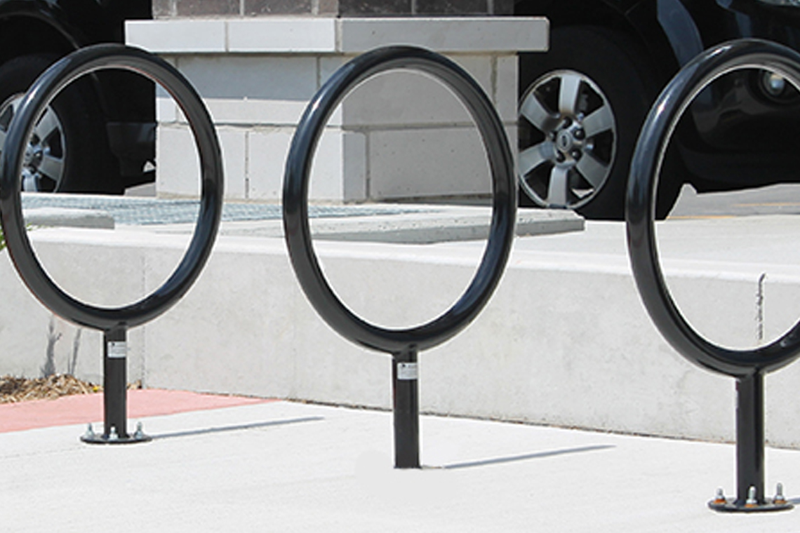 "Of the three options, selected bike ring ""option b"" received 64% of votes"