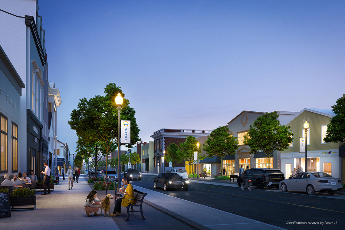 Artist's rendering of Lakeshore Road streetscape