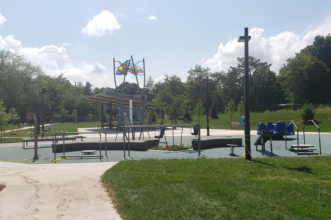 Image of the playground at the Oakville Trafalgar Community Centre