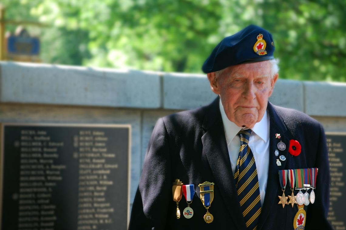 Veteran on Remembrance Day