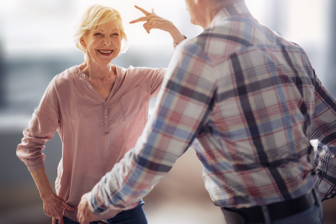 Older adults dance to maintain their health.